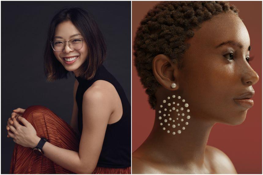 Photographer Shavonne Wong and her virtual model art.